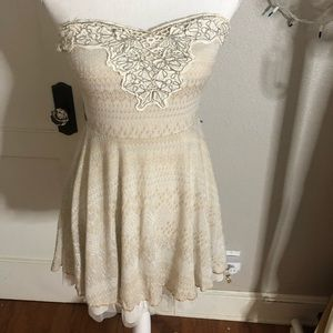White Free People Shirt with Beading